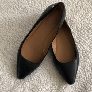 CALVIN KLEIN women's black pointed toe flats